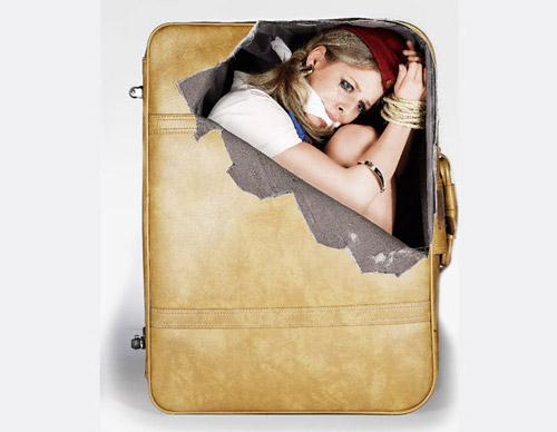 Веселые наклейки для багажа. Чемоданный креатив для мирных граждан :)