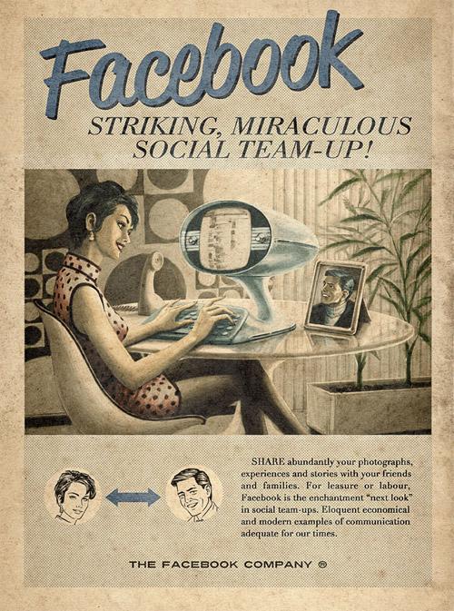 Принты YouTube, Facebook, Skype и Twitter о чудесах интернет-медиа