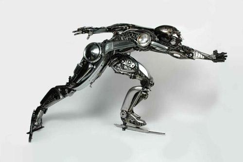 Искусство из металлолома. Автомобильных дел скульптор James Corbett