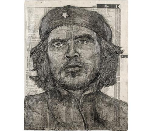 Телефонные справочники со знаменитостями. Портреты, вырезанные Алексом Кверелом