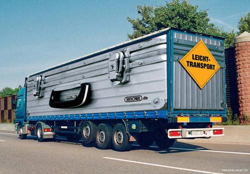 Грузовой креатив. Реклама на немецких фурах