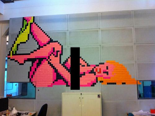 «Рost-it» арт. Креатив из цветных самоклеющихся листочков