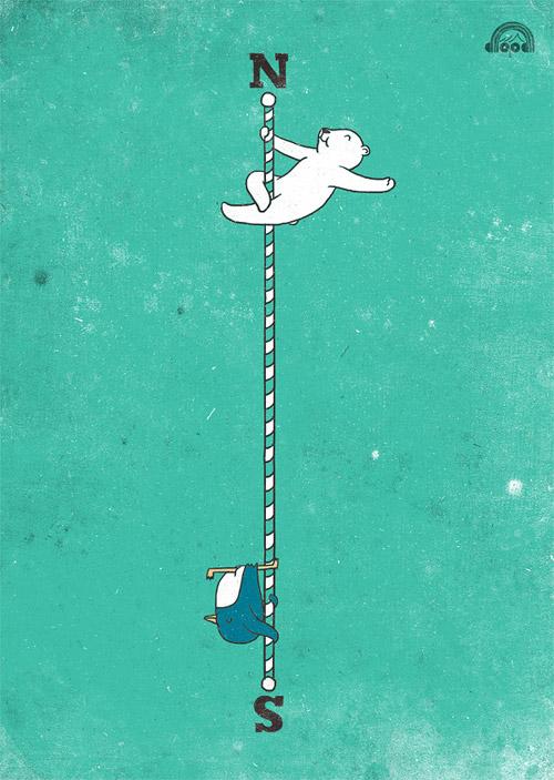 Иллюстрированный каламбур. Серия «Doodle every day» от Lim Heng Swee