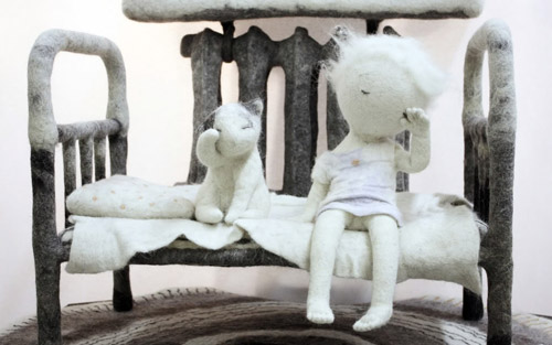 Мне очень понравились эти работы Ирины Андреевой - художника по войлоку.