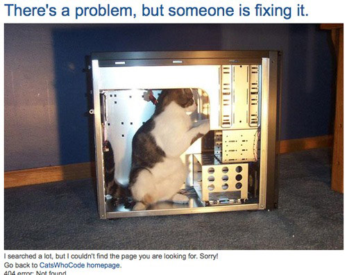 Ошибка 404 как повод для креатива веб-мастеров. Веселые и оригинальные несуществующие страницы