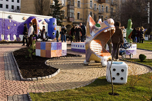 Городская ландшафтная сказка Киева. Детский парк на Пейзажной аллее