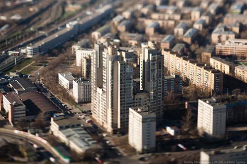 Москва большая / Москва маленькая. Тилт-шифт столица от Дмитрия Чистопрудова