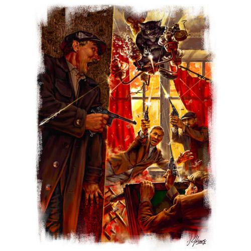 """Illustrations d'après le roman """"Le Maître et Marguerite"""".  Anniversaire de Mikhaïl Boulgakov"""