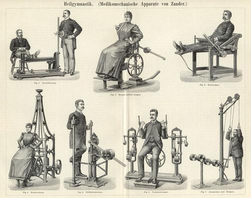 Первые спортивные тренажеры Густава Цандера. Из истории фитнеса :)