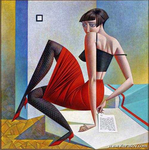 Уникальный и яркий стиль Георгия Курасова (русский художник.