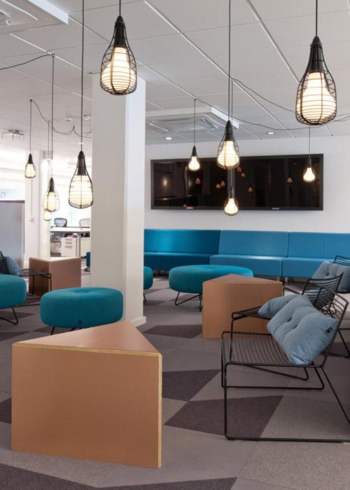 Новый офис Skype в Стокгольме. Креатив в рабочем пространстве
