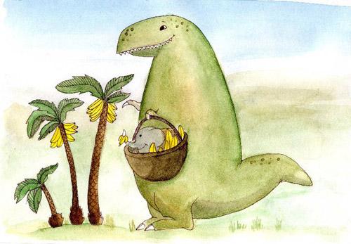 """В конце августа был презентован сборник стихов Павла Коробчука  """"Динозавр """" с ее обложкой."""