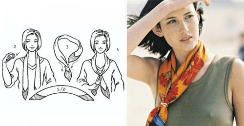 55 способов повязать платок от Hermes. Продолжаем примодняться