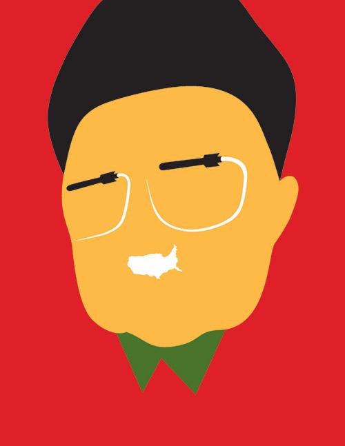 Минималистичные портреты by Noma Bar. Характерные черты известных персон