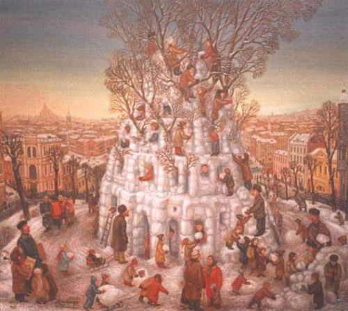 Картины о москве художник сергей