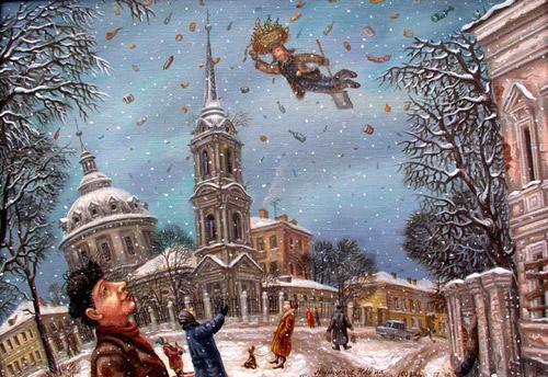 Картины о Москве. Художник Сергей Волков