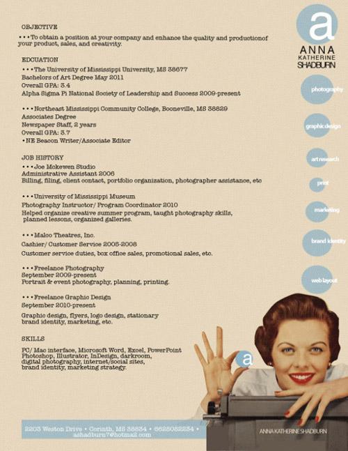 Нестандартный подход к трудоустройству / 24 примера креативных резюме