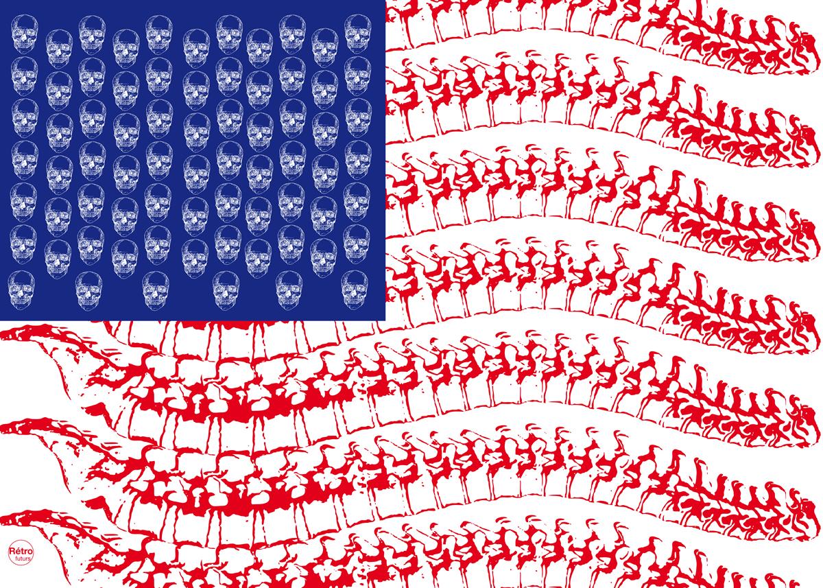 Американский флаг как объект фейк