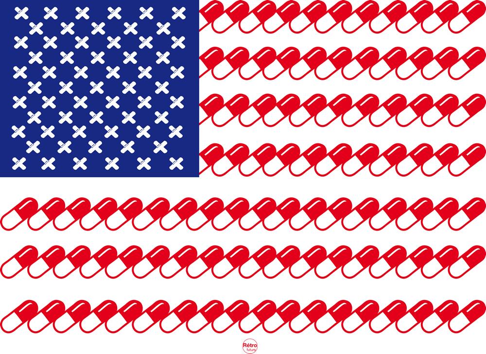 Американский флаг, как объект фейк-дизайна. 16 фейков.
